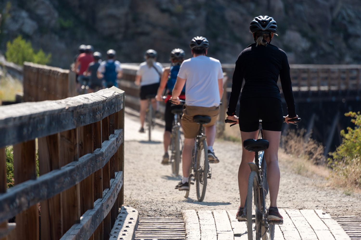 lifestyle photo at Kettle Valley Railway in Kelowna, BC